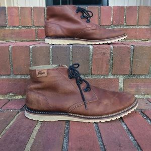 fc3f9ce5d Lacoste Sherbrooke Hi Boots Dark Blue Mens Footwear Shop Mens Footwear  COLOUR-dark blue